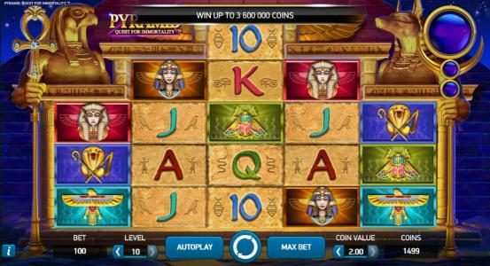 Play slots at Llama Casino: Llama Casino featuring the Video Slots Pyramid Quest for Immortality with a maximum payout of $3,600,000