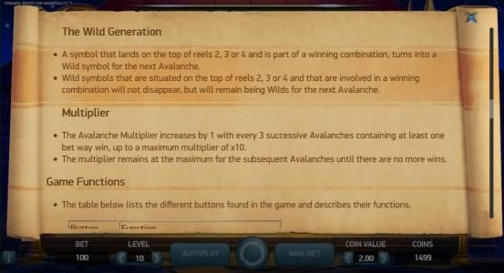 The Wild Generation game rules and Multiplier rules
