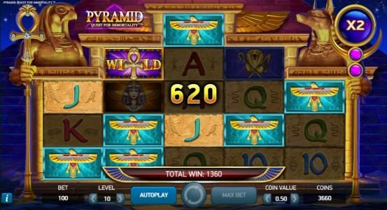 A 620 coin payout added to an already growing jackpot