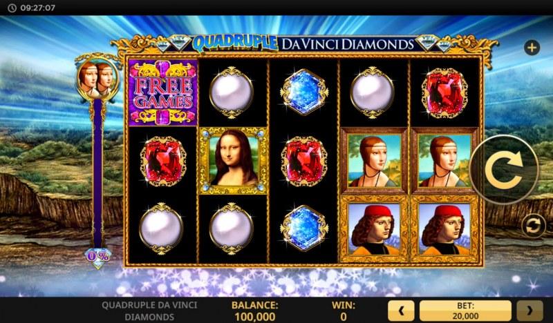 Quadruple Da Vinci Diamonds :: Main Game Board