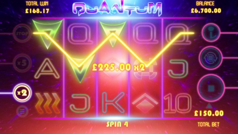 Quantum :: Free Spins Game Board