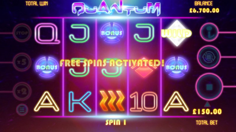 Quantum :: Free Spins Activated