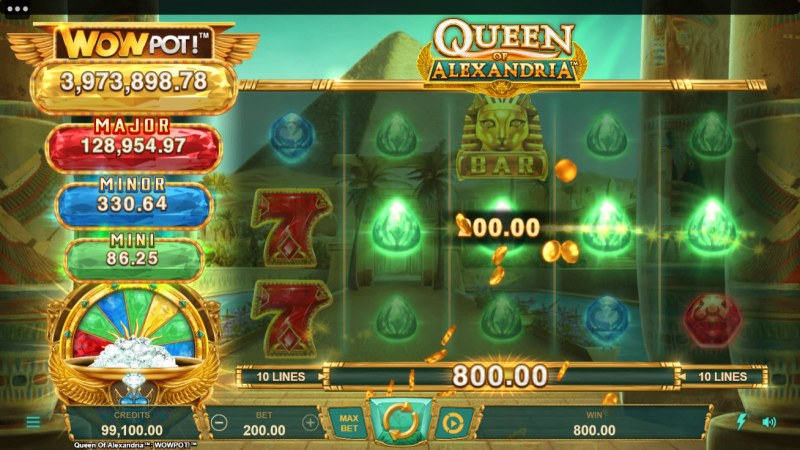 Queen of Alexandria Wow Pot :: Game Pays In Both Directions
