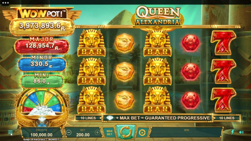 Queen of Alexandria Wow Pot :: Main Game Board
