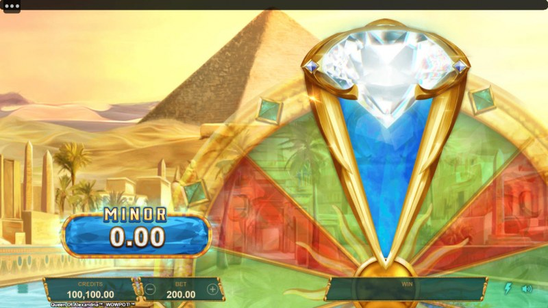 Queen of Alexandria Wow Pot :: Spin the wheel and win a jackpot