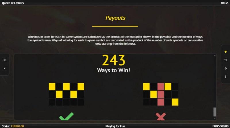 Queen of Embers :: 243 Ways to Win