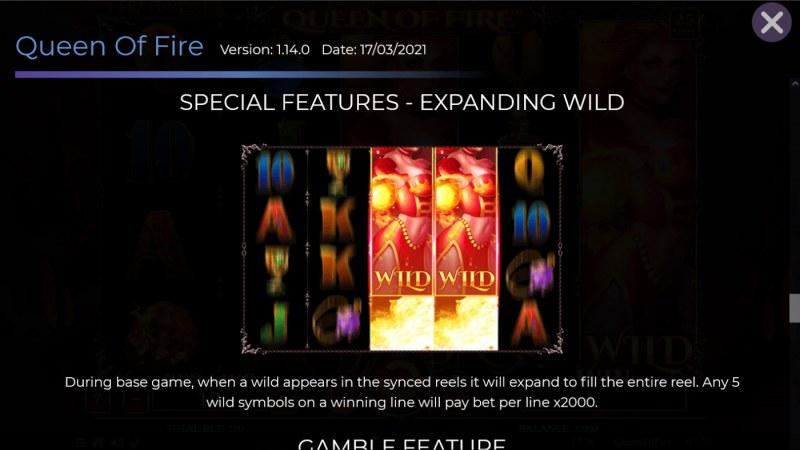 Queen of Fire :: Expanding Wild