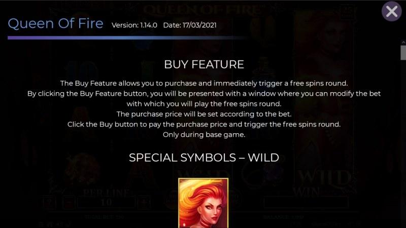 Queen of Fire :: Buy Feature