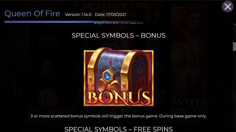 Queen of Fire :: Bonus Symbol