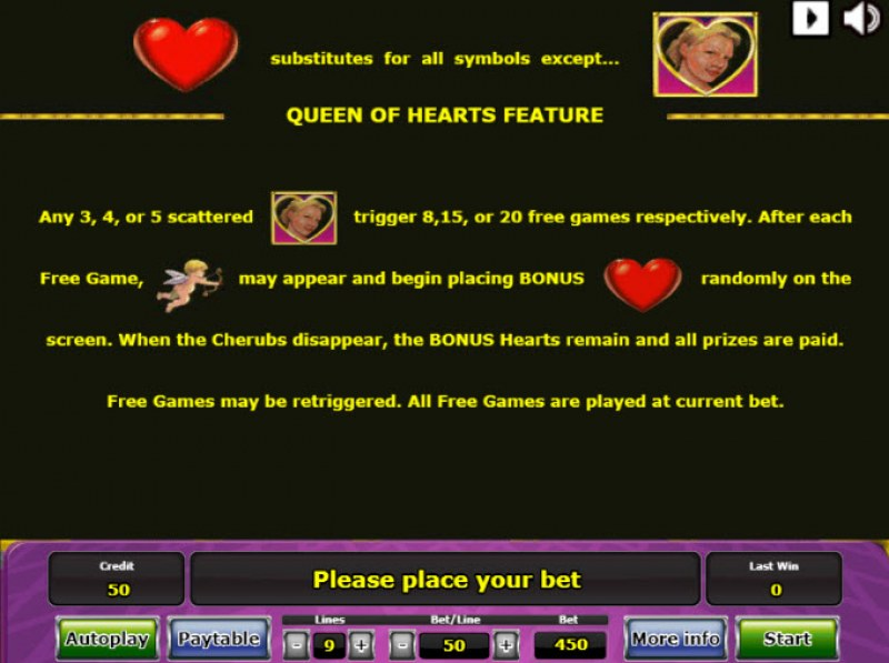 Queen of Hearts :: Feature Rules