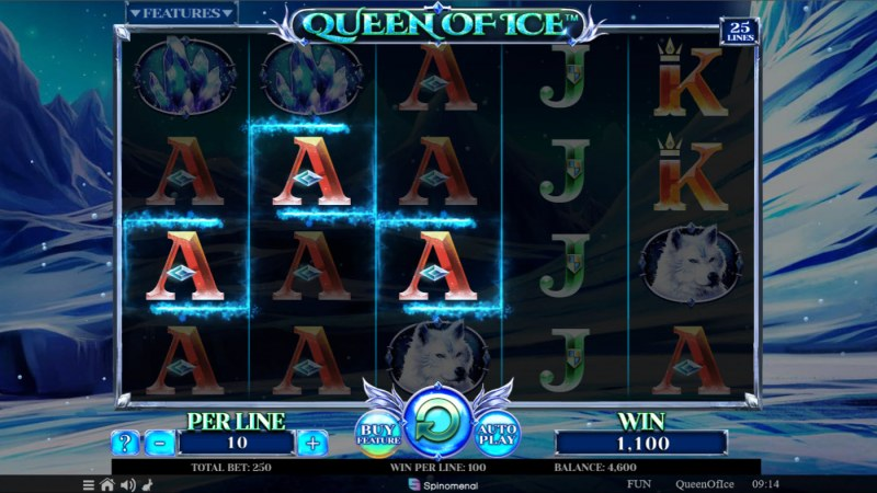 Queen of Ice :: A three of a kind win