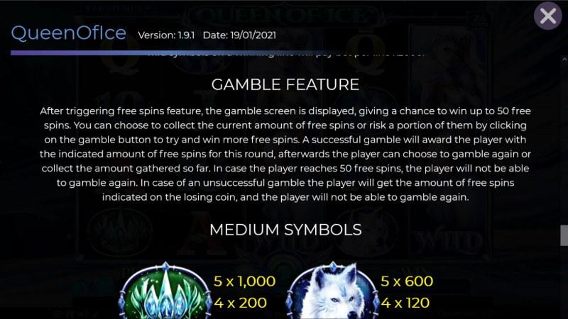 Queen of Ice :: Gamble feature