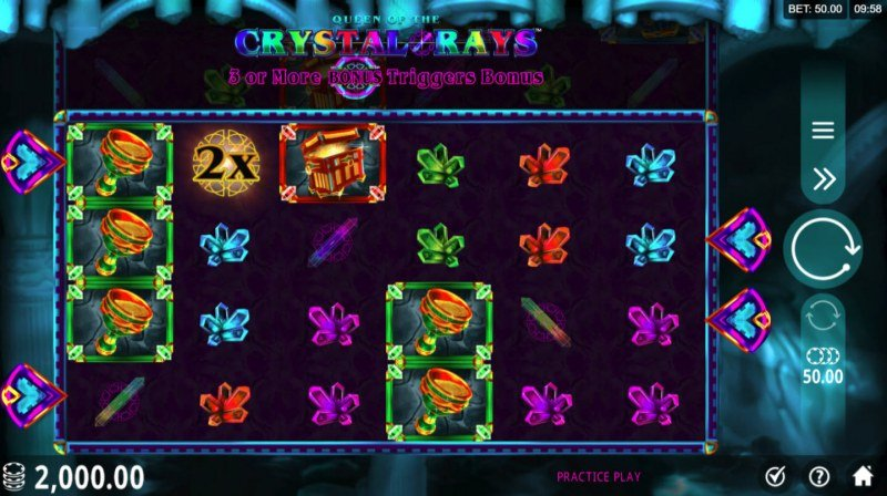 Play slots at Zodiac: Zodiac featuring the Video Slots Queen of the Crystal Rays with a maximum payout of $129,000