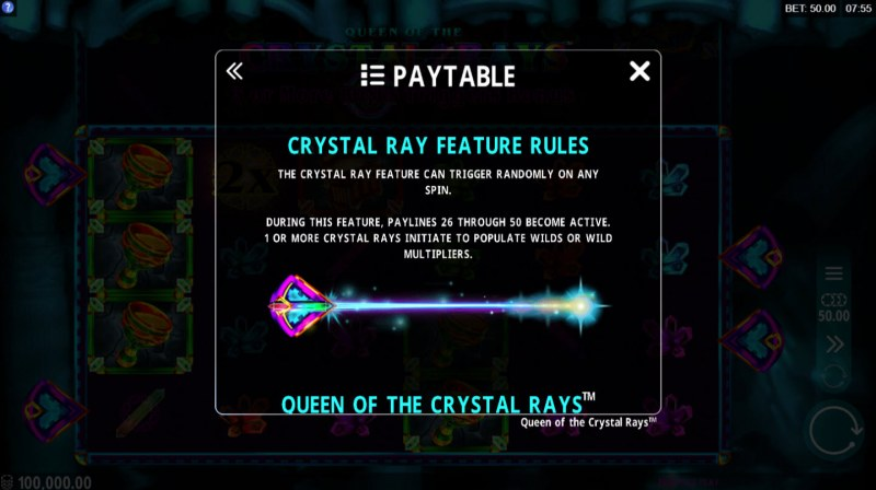 Queen of the Crystal Rays :: Crystal Ray Feature