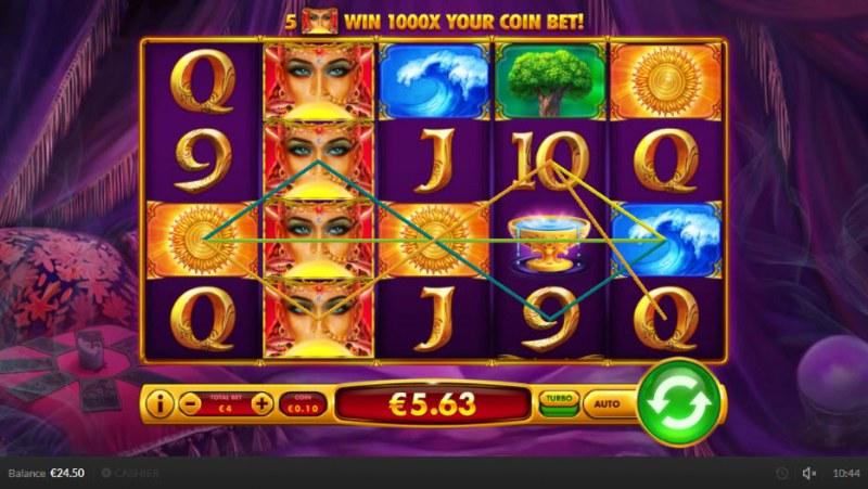 Queen of Wands :: Multiple winning paylines