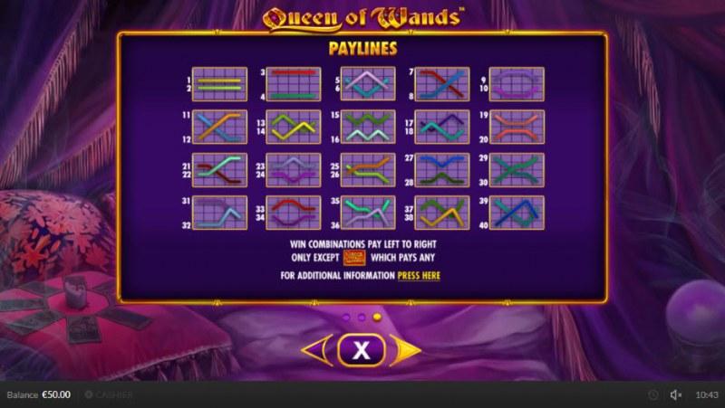 Queen of Wands :: Paylines 1-40
