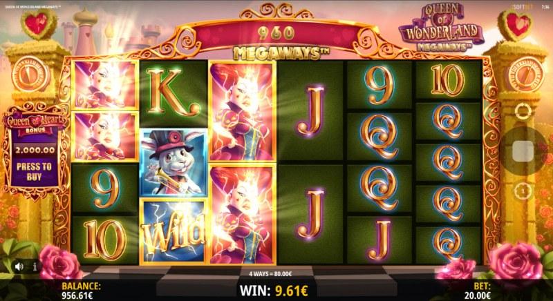 Queen of Wonderland Megaways :: Multiple winning combinations