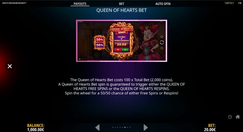 Queen of Wonderland Megaways :: Buy Feature