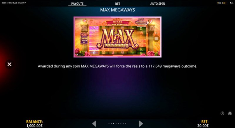 Queen of Wonderland Megaways :: Feature Rules