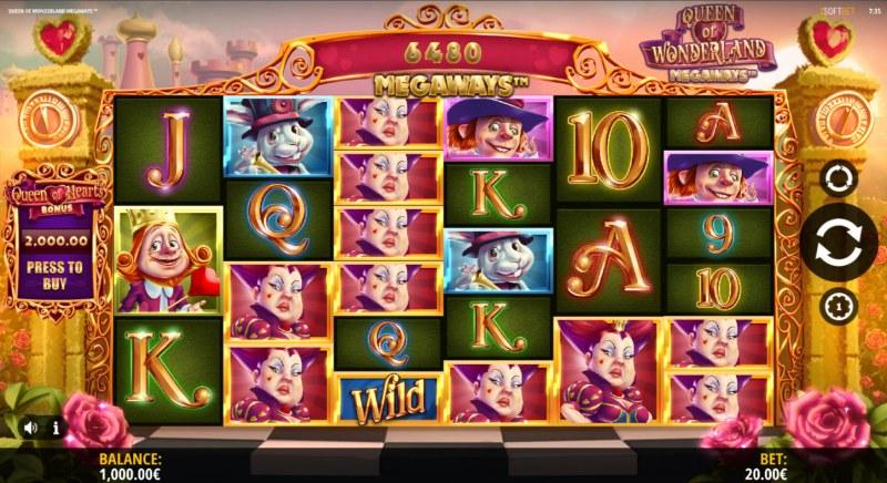 Queen of Wonderland Megaways :: Main Game Board