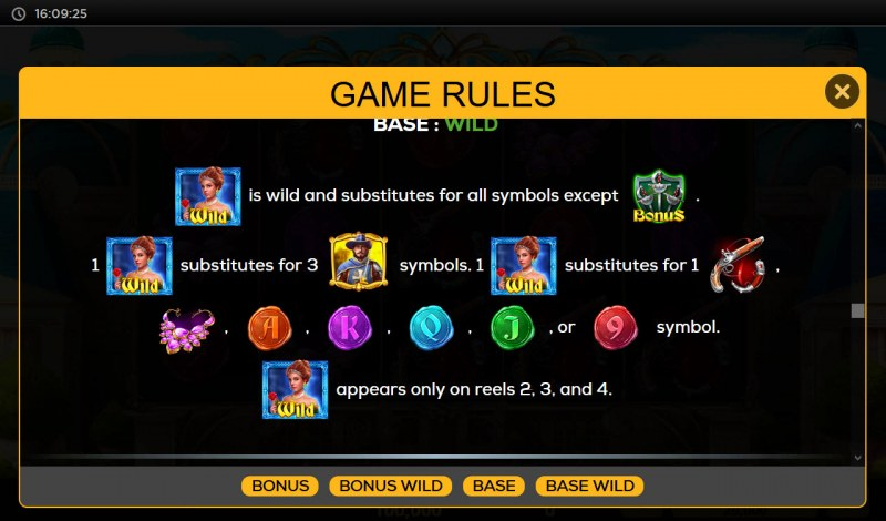 Queen's Guard :: Wild Symbol Rules