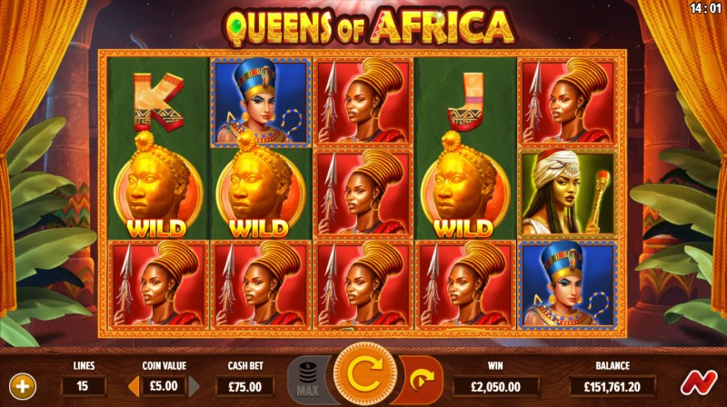 Queens of Africa :: Multiple winning combinations lead to a big win