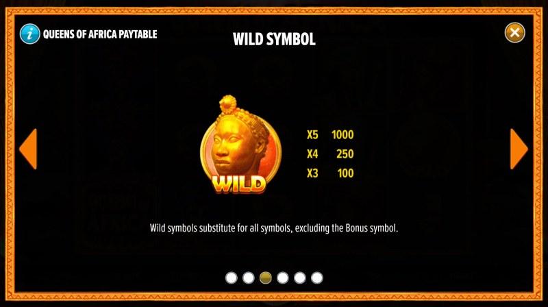 Queens of Africa :: Wild Symbol Rules