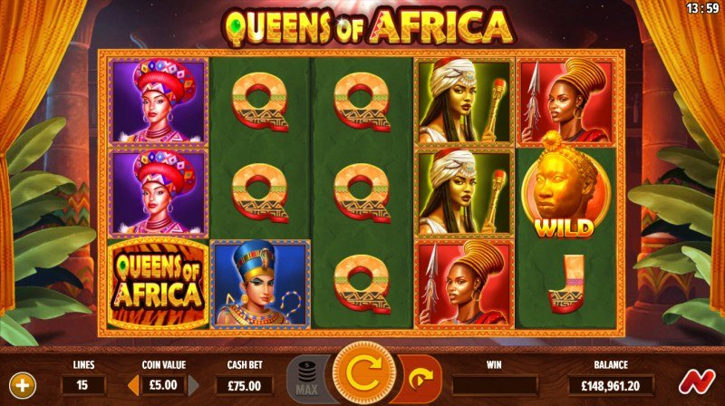 Queens of Africa :: Base Game Screen