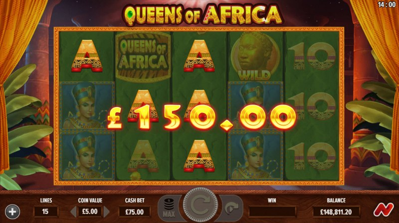 Queens of Africa :: A three of a kind win