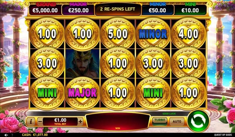 Quest of Gods :: Jackpot Spins