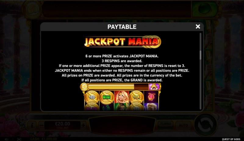 Quest of Gods :: Jackpot Mania