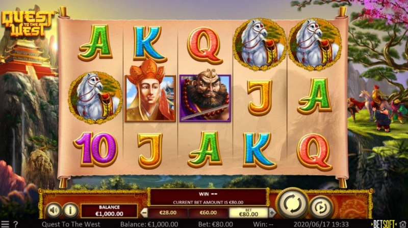 Play slots at Rich: Rich featuring the Video Slots Quest to the West with a maximum payout of $75,000