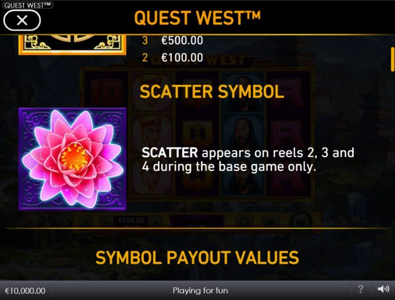 Quest West :: Scatter Symbol Rules