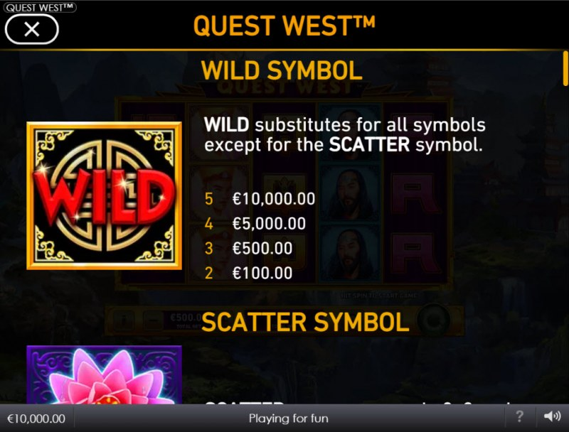 Quest West :: Wild Symbol Rules
