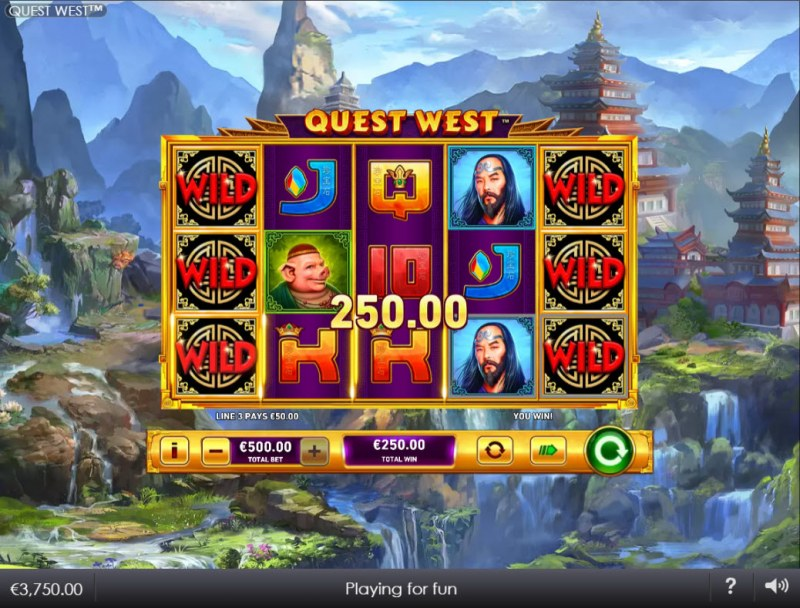 Quest West :: A three of a kind win