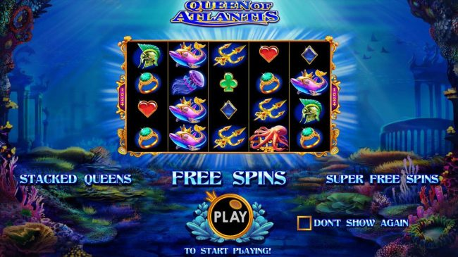 Casino States featuring the Video Slots Queen of Atlantis with a maximum payout of $10,000
