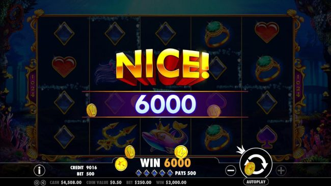 Mayflower featuring the Video Slots Queen of Atlantis with a maximum payout of $10,000