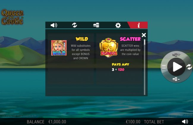 Trada featuring the Video Slots Queen of the Castle with a maximum payout of 0