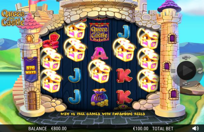 Gala featuring the Video Slots Queen of the Castle with a maximum payout of 0
