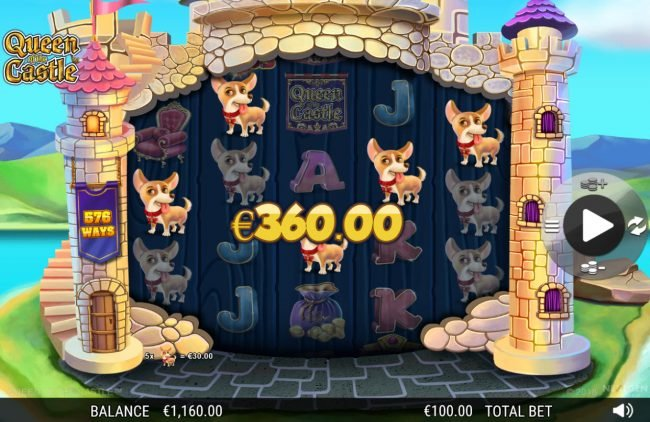 Casino Red Kings featuring the Video Slots Queen of the Castle with a maximum payout of 0