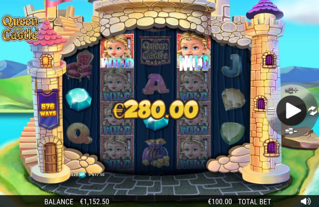 Wintingo featuring the Video Slots Queen of the Castle with a maximum payout of 0
