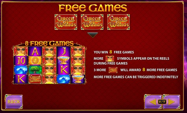 AdamEve featuring the Video Slots Queen of Wands with a maximum payout of $50,000