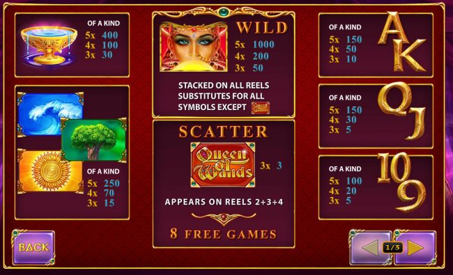 Fly Casino featuring the Video Slots Queen of Wands with a maximum payout of $50,000