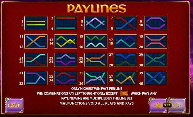 Paylines 1-40