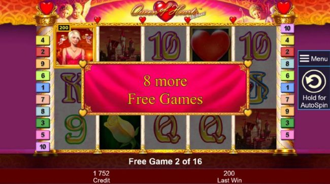 Play slots at Pamper: Pamper featuring the Video Slots Queen of Hearts Deluxe with a maximum payout of $10,000,000