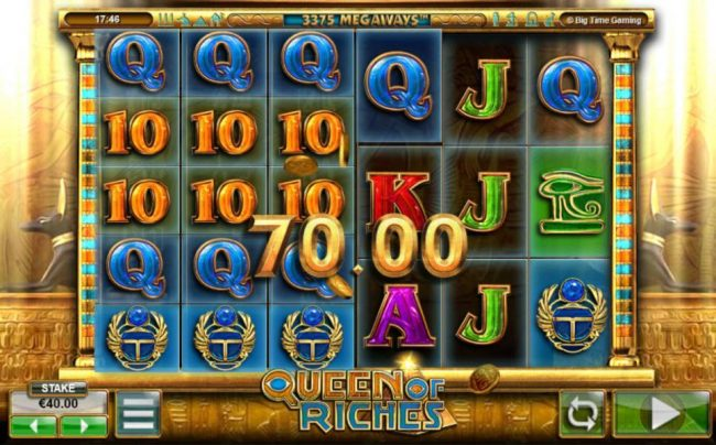888 Casino featuring the Video Slots Queen of Riches with a maximum payout of $1,200