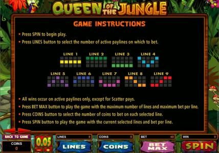 Mummys Gold featuring the Video Slots Queen of the Jungle with a maximum payout of $30,000