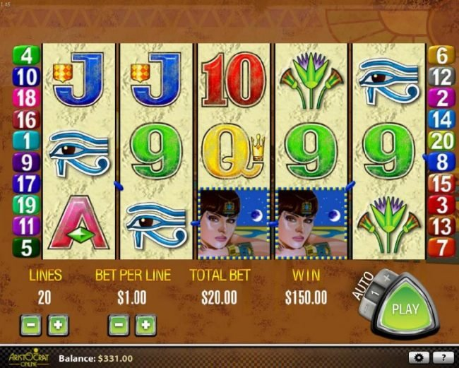 Stan James featuring the Video Slots Queen of the Nile with a maximum payout of $27,000