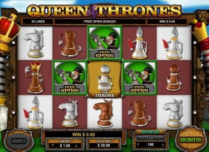 Casino Extra featuring the Video Slots Queen of Thrones with a maximum payout of $25,000