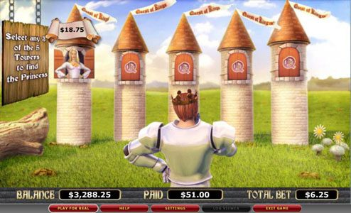 Caesars featuring the video-Slots Quest of Kings with a maximum payout of 8,000x